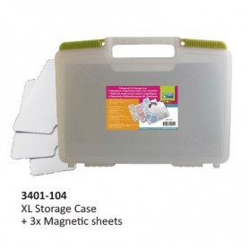 Magnetic die storage case 29,5x40x7,5cm + 3x magnetic sheets