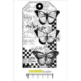 Tampon : Tag : 3 Papillons