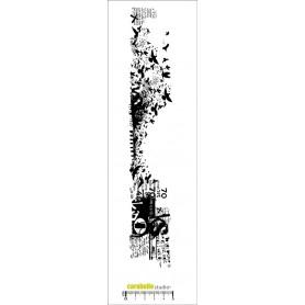 Tampon Edge : Collage, envolée d'oiseaux