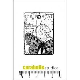 Carabelle Cling Stamp : Tag carte postale au papillon