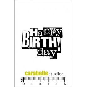 Carabelle Cling Stamp : Happy Birthday
