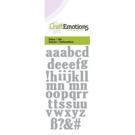 CraftEmotions Die - Kleinbuchstaben Card 5x10cm