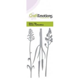 CraftEmotions Die - blühenden Gras Card 5x10cm