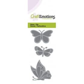 CraftEmotions Die - Schmetterlinge Card 5x10cm