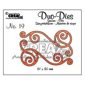 Crealies Duo Die no. 20 Swirls 1 CLDD20 / 6,1x3 cm