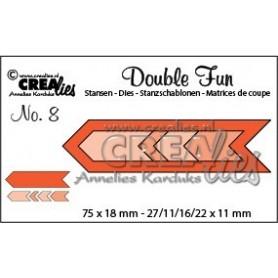 Crealies Double Fun no.8 Zick-Zack-Pfeile CLDF08 / 7,5 cm x 1,8 cm