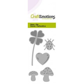 CraftEmotions Die - Glück Symbole Card 5x10cm