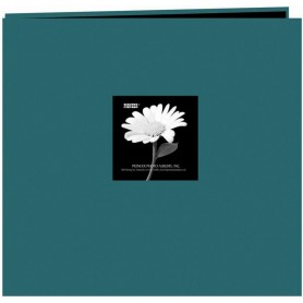 "Pioneer Fabric Frame Post Bound Album 12""X12"" Majestic Teal"