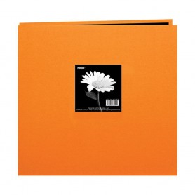 "Pioneer Book Cloth Cover Post Bound Album 12""X12"" Orange"