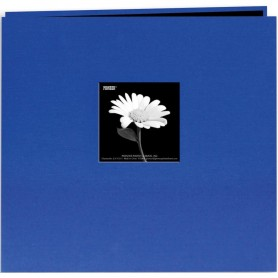 "Pioneer Book Cloth Cover Post Bound Album 12""X12"" Cobalt Blue"