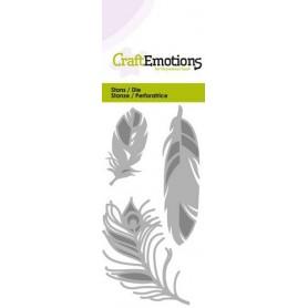 CraftEmotions Die - Gefieder Card 5x10cm
