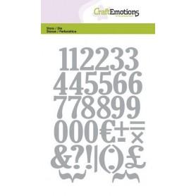 CraftEmotions Die - Zahlen 10,5x14,8cm