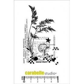 Carabelle Studio Tampon : Collage sur fond de carte postale