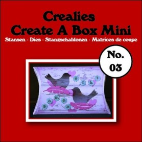 Crealies Create A Box Mini no. 03 Pillowbox 87x138mm