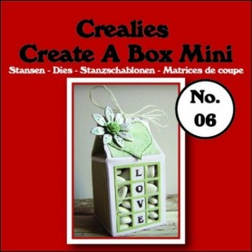 Crealies Create A Box Mini no. 06 Milk carton 105x125mm