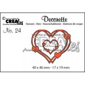 Crealies Decorette no. 23 verflochtene Herzen 40x46-17x19mm