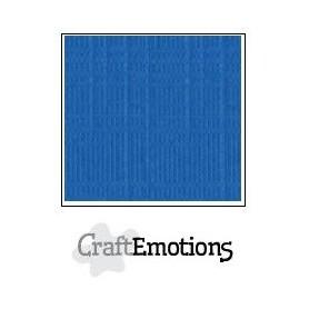 CraftEmotions Leinenkarton 10 Bg Signalblau 27x13,5cm 250gr