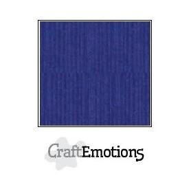 CraftEmotions Leinenkarton 10 Bg Saphirblau 27x13,5cm 250gr