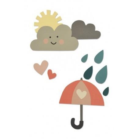 Sizzix Thinlits Die Set - Rainy days & sunshine 13PK Katie Skilton