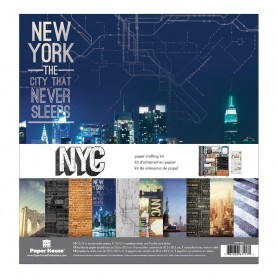 "Paper House Paper Crafting Kit 12""X12"" New York City"