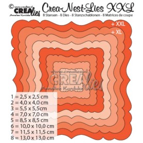 Crealies Crea-nest-dies XXL no. 2 Stanz Ornament Quadrat 2,5 cm - 13 cm