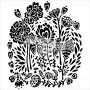 "Crafter\'s Workshop Template 12\""X12\"" Wild Bouquet"