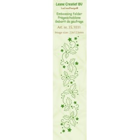 LeCrea - Prägeschablone Bordüre Stechpalme Blätter 23x123mm