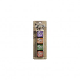 Distress Mini Ink Pads 4/Pkg Kit 15 Tim Holtz