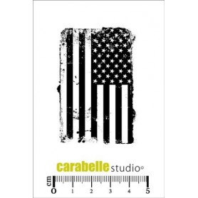 Carabelle Cling Stamp : American Flag