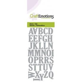 CraftEmotions Die - Alphabet Großb. Card 5x10cm