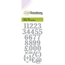CraftEmotions Die - Zahlen Card 5x10cm