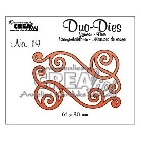 Crealies Duo Die no. 20 Swirls 1 CLDD20 / 6,1x3 cm