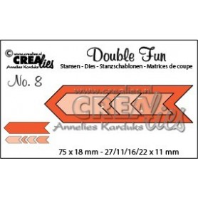 Crealies Double Fun no.8 Zick-Zack-Pfeile CLDF08 / 7,5 cm x 1,8 cm