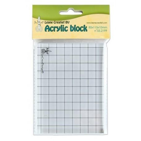 LeCrea - Acrylic Silikon Stempel Block 85x115x10mm