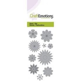 CraftEmotions Die - Blumen-Mix Card 5x10cm
