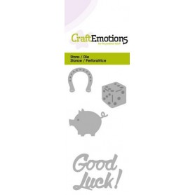 CraftEmotions Die - Good Luck! Card 5x10cm