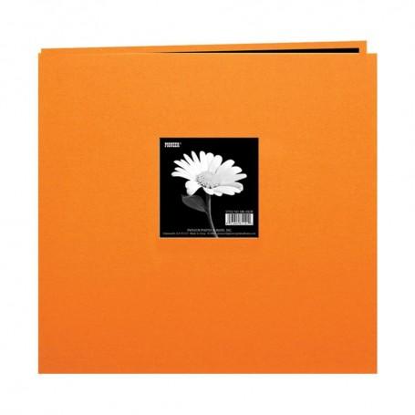 """Pioneer Book Cloth Cover Post Bound Album 12""""X12"""" Orange"""
