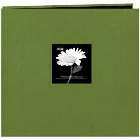 "Pioneer Fabric Frame Post Bound Album 12""X12"" Herbal Green"