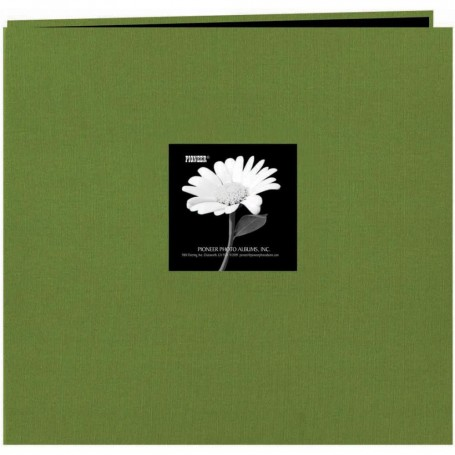 "Pioneer Fabric Frame Post Bound Album 12""X12"" Herbal Green"