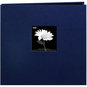 "Pioneer Book Cloth Cover Post Bound Album 12""X12"" Regal Navy"