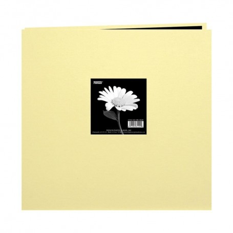 """Pioneer Book Cloth Cover Post Bound Album 12""""X12"""" Soft Yellow"""