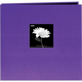 "Pioneer Book Cloth Cover Post Bound Album 12""X12"" Grape Purple"