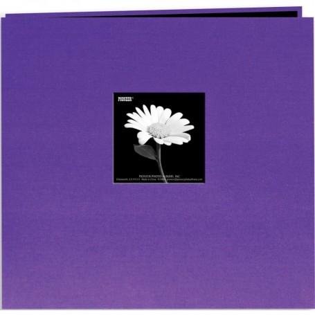 """Pioneer Book Cloth Cover Post Bound Album 12""""X12"""" Grape Purple"""