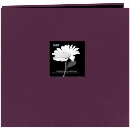 "Pioneer Fabric Frame Post Bound Album 12""X12"" Wildberry Purple"