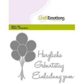 CraftEmotions Die Text - Herzlichen Geburtstag Card 11x9cm