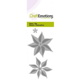 CraftEmotions Die - Blume Weihnachtsstern 3D Card 5x10cm