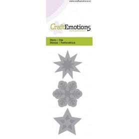 CraftEmotions Die - Sterne, Kristall 5x10cm