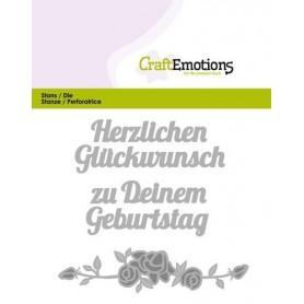 CraftEmotions Die Text - Herzlichen Glückwunsch Card 11x9cm