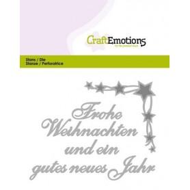 CraftEmotions Die Text - Frohe Weihnachten Card 11x9cm