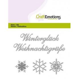 CraftEmotions Die Text - Winterglück Card 11x9cm